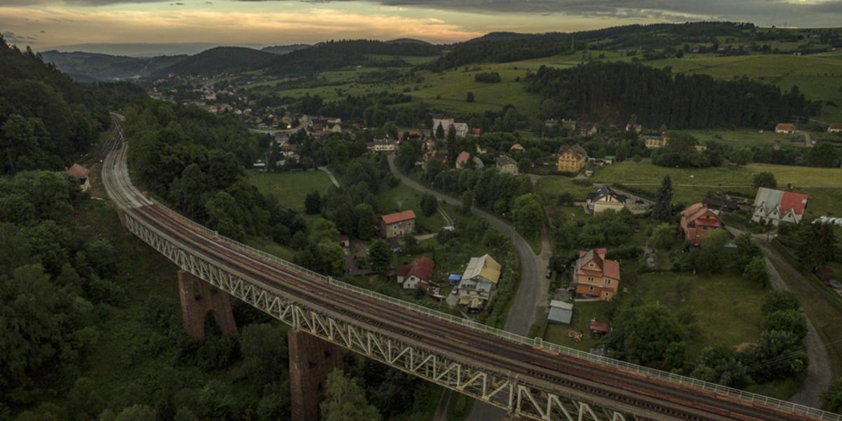 Wiadukt kolejowy, Ludwikowice Kłodzkie. 2014 r.
