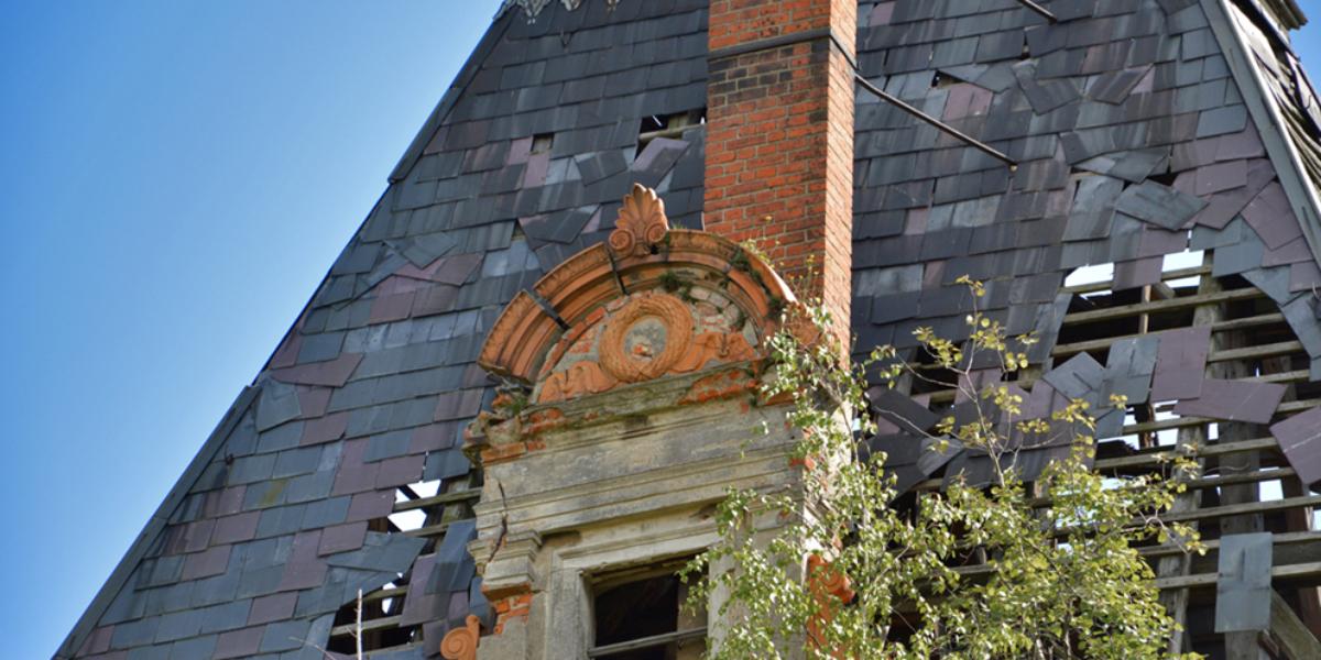 Ruiny pałacu w Stolcu. 2013 r.