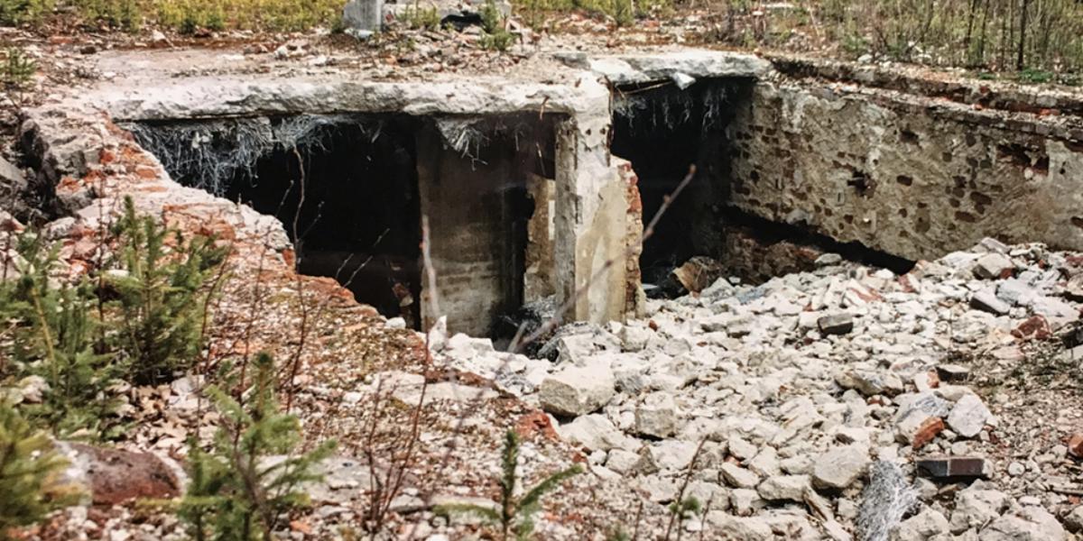 Pozostałości fabryki amunicji, Antonówka. 2004 r.