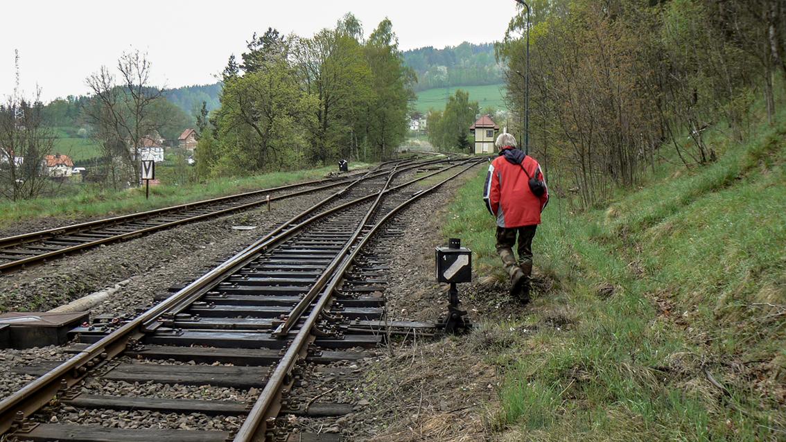 Wiadukt i stacja kolejowa, Ludwikowice Kłodzkie. 2010 r.