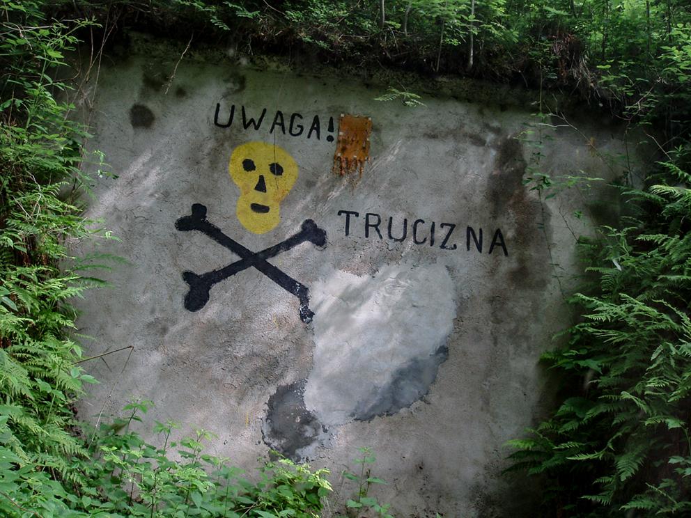 Bunkry i umocnienia w okolicy elektrowni, Ludwikowice Kłodzkie. 2007 r.