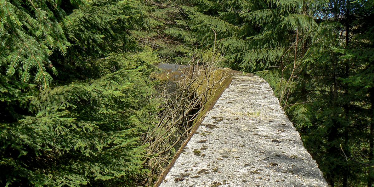 Mur oporowy w okolicach sztolni 3 i 4. Gontowa 2008 r.