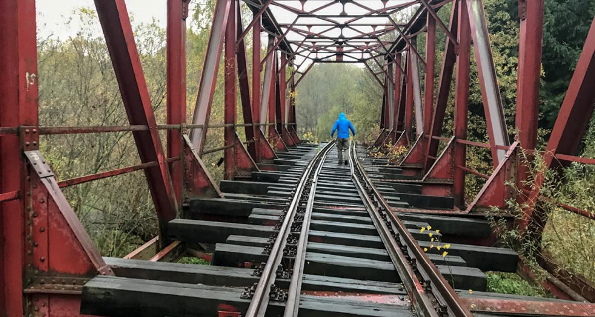 Wiadukt kolejowy w Jerzmanicach, 2018 r.