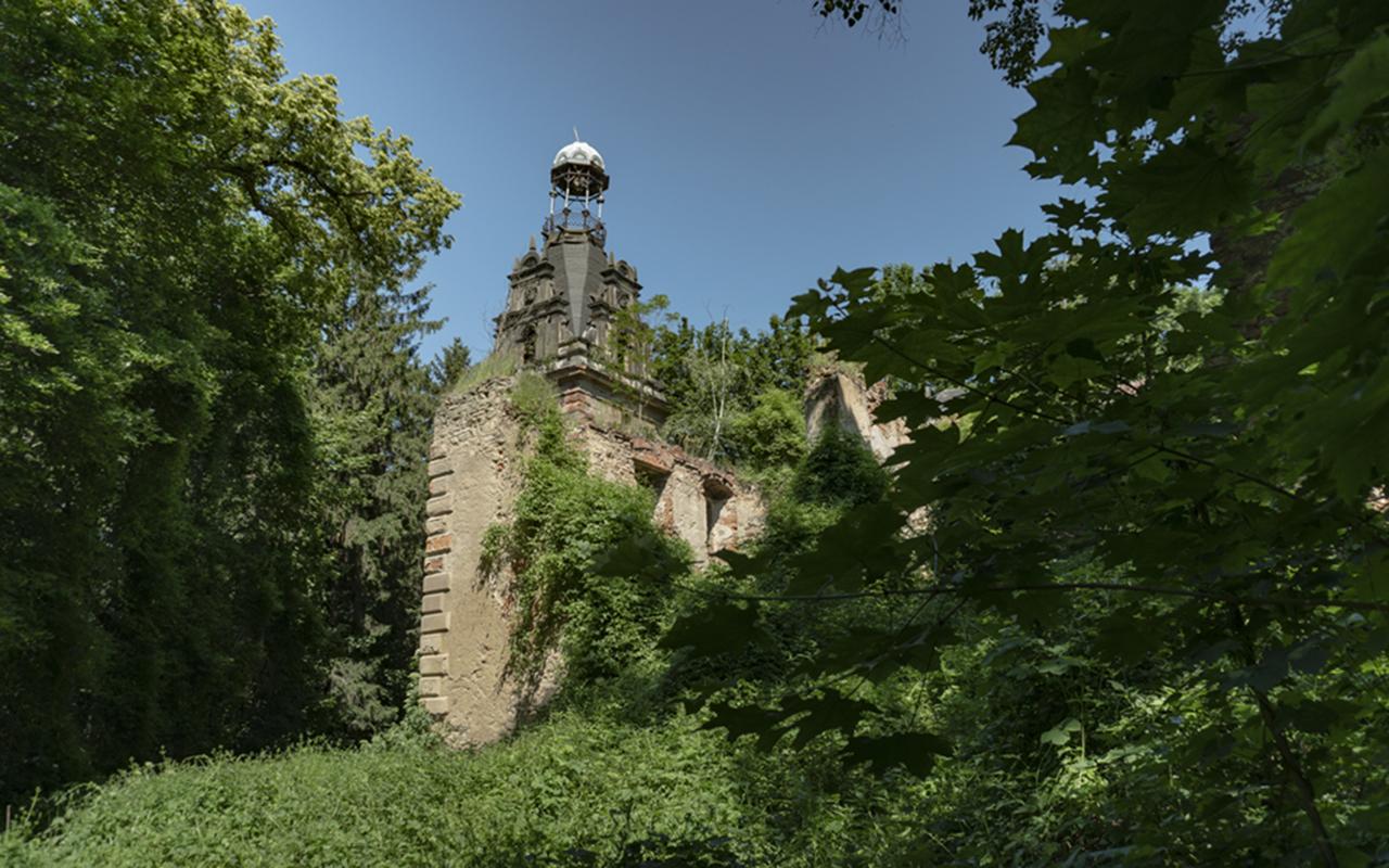 Pałac w Siedlimowicach, czerwiec 2019 r.